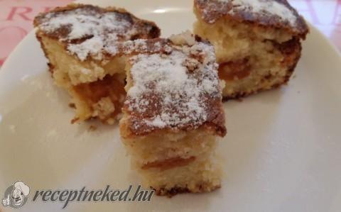 Túrós-sárgabarackos bögrés süti recept fotóval