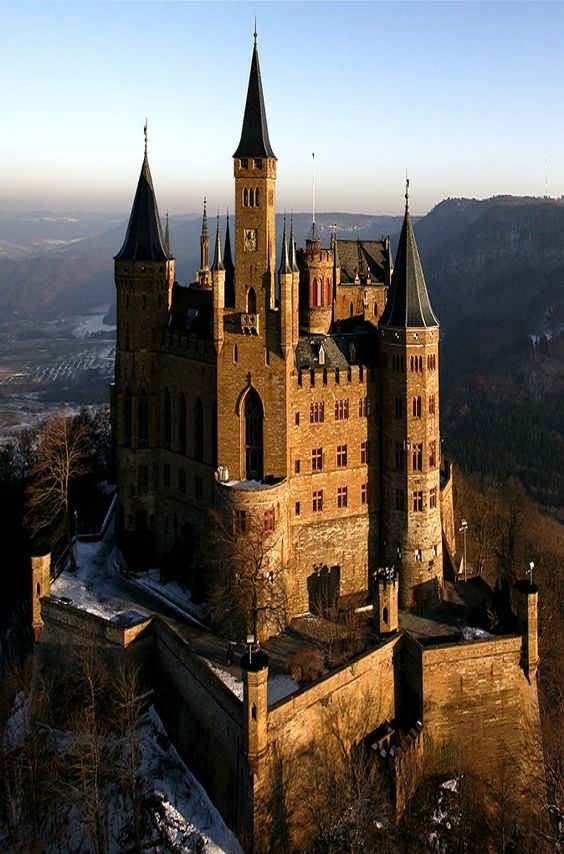 The Hohenzollern Castle in Germany.
