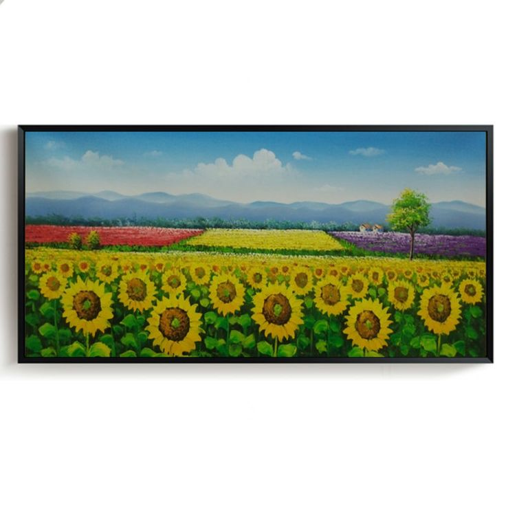 Hand painted Oil Painting Landscape Painting Modern Wall Art Picture for Living room Sunflower Canvas Paintings