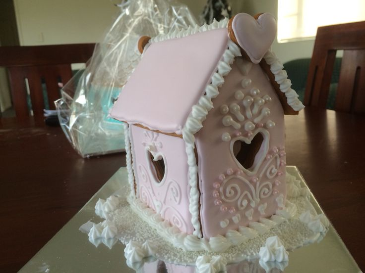 Pink gingerbread house 2014