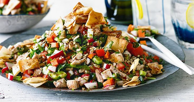 This Israeli chopped chicken salad is a great hearty, winter recipe.