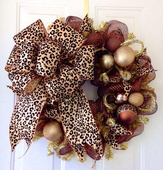 FALL SALE Whimsical Elegant Deco Mesh Wreath by SouthernDoorArt, $65.00