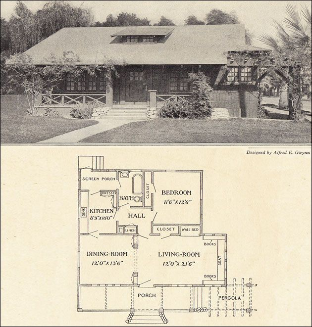 336 best images about vintage house plans 1910s on California bungalow floor plans