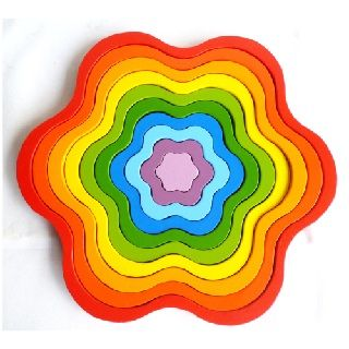 Rainbow Flowers $34.95 #sweetcreations #baby #kids #toddlers #games #puzzles #toys