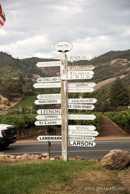 Glen Ellen and Kenwood Winery Signs, Sonoma Valley