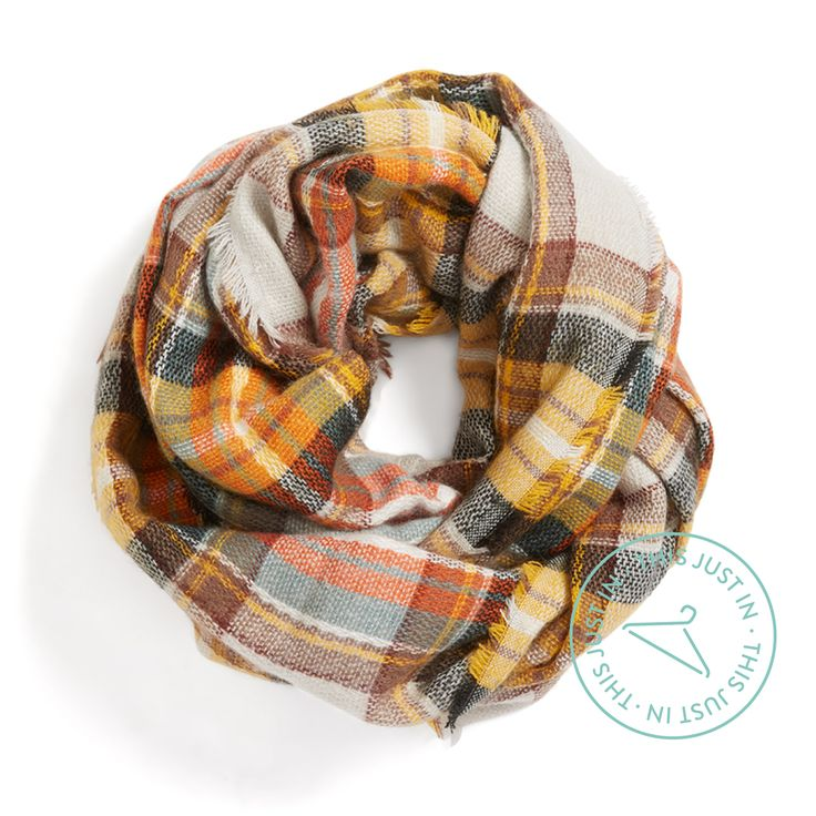 Love the colors! So need a plaid scarf this year. Be well-rounded! Wrap yourself in plaid to add print & warmth to your everyday look. #trendalert