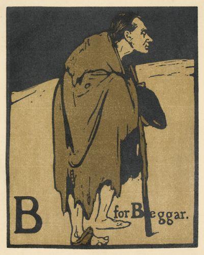 William Nicholson B for Beggar (William Pryce). #alphabet