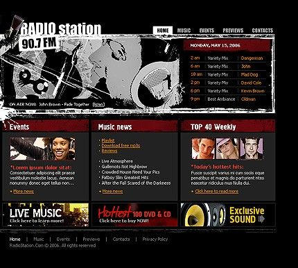 Radio Station Flash Templates by Matrix