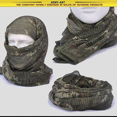 Russian YEGER Woodland Camo Tactical Mesh Scarf Wrap Mask Shemagh Sniper Veil | Collectibles, Militaria, Surplus | eBay!