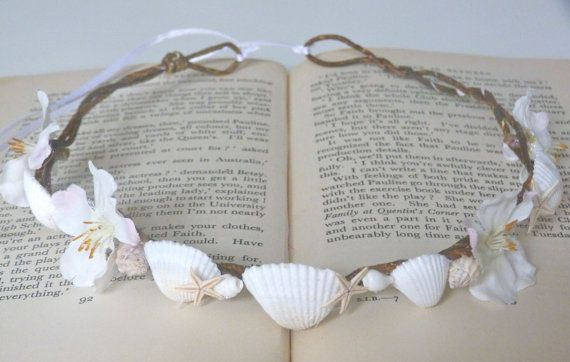 Hey, I found this really awesome Etsy listing at https://www.etsy.com/listing/124978889/rustic-mermaid-shell-crown-beach-wedding
