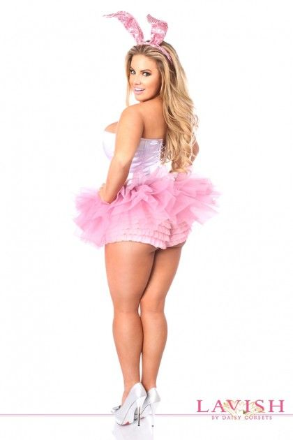 3f66b3440e7 Pink White Sexy Sequins Innocent Bunny Costume | Art drawings in ...