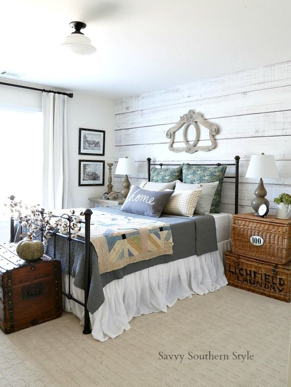 Fall Style French Farmhouse Guest Bedroom Farmhouse Guest Bedroom Country Style Bedroom French Country Bedrooms