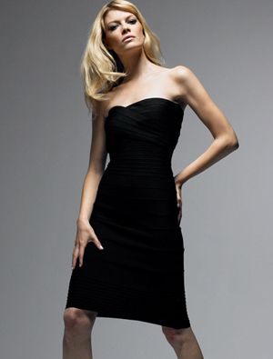 $125.29 Herve Leger Black Dress - Charming Strapless Sale