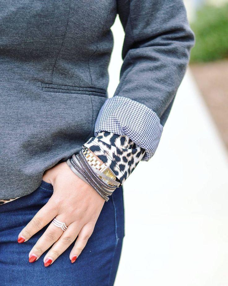 STYLE // Give me the details. It's a grey matter.   No time for it::#fantasia @mfannphotography  Blazer: Walmart Leopard blouse: #worthington  Jeans: #levis  Bracelet & Rings: @torridfashion  Watch: @charmingcharlie #fashion #dallasblogger #style #fashionblogger #styleblogger #womensstyle #womensfashion #personalstyle #mixingprints #grey #blazer #leopardprint #leopard #rednails #levis #denim #denimtrend #bloggers #wiw #ootd #Dallas #curvyblogger #texas #details #jewelry #gunmetal #rings…