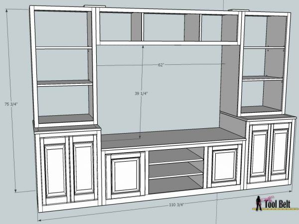 Remodelaholic | Pottery Barn Media Center Building Plans