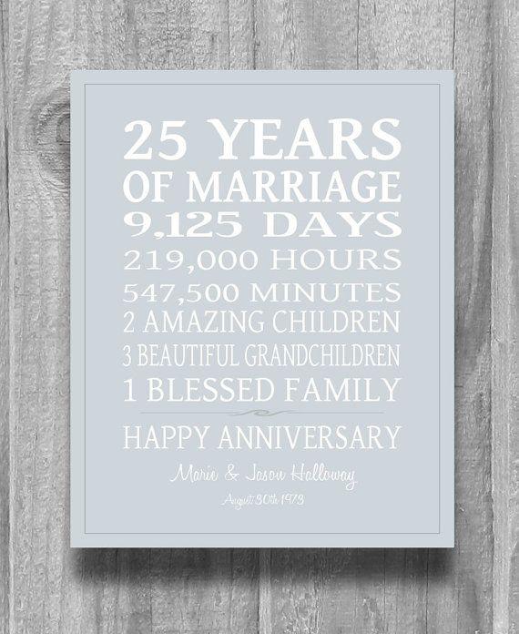 25 year wedding anniversary gift ideas parents