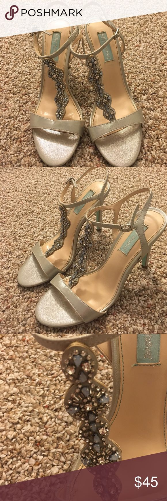 Betsey Johnson Chloe Sandal size 9 Betsey Johnson Chloe Sandal size 9. Beautiful beading details. Gently worn once for my sisters wedding. Betsey Johnson Shoes Heels