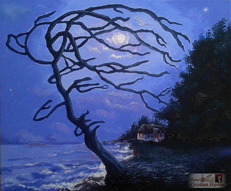 Mai am un singur dor ...! ( Mihai Eminescu ) 60 x 50 cm Ulei pe panza  Pictura realizata de Cristian Hartie