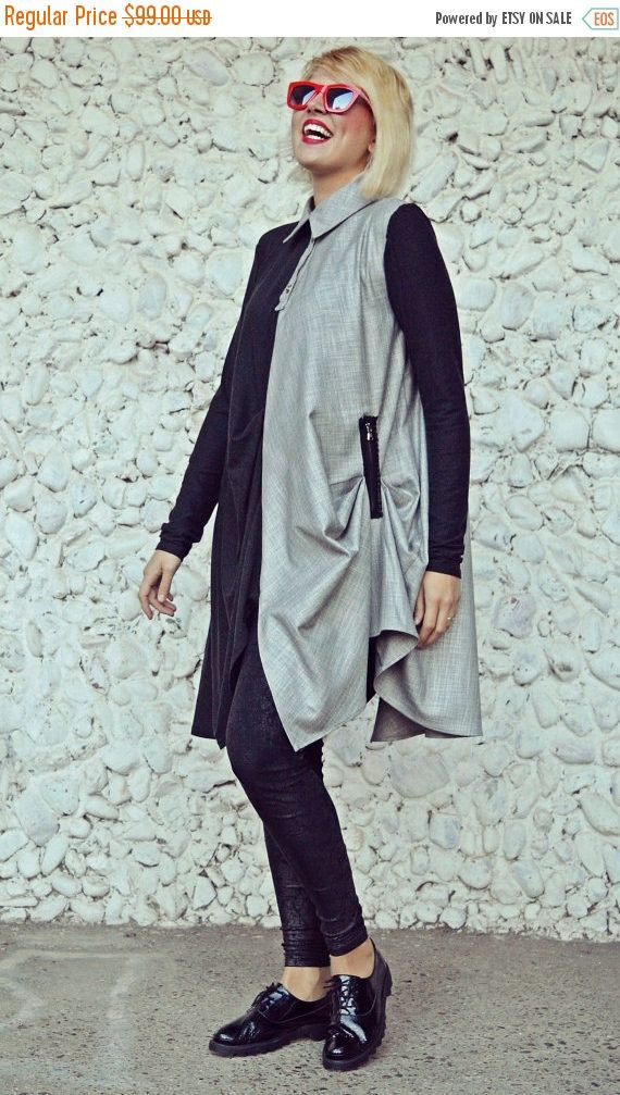 Now selling: SUN SALE 25% OFF Funky Asymmetrical Tunic / Charcoal Jersey Long Tunic / Extravagant Linen and Wool Jersey Top / Loose Tunic Tt100 https://www.etsy.com/listing/475548320/sun-sale-25-off-funky-asymmetrical-tunic?utm_campaign=crowdfire&utm_content=crowdfire&utm_medium=social&utm_source=pinterest