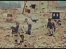 Life among the rubble in Hiroshima in March and April 1946. Film footage taken by Lieutenant Daniel A. McGovern (director) and Harry Mimura (cameraman) for a United States Strategic Bombing Survey project.