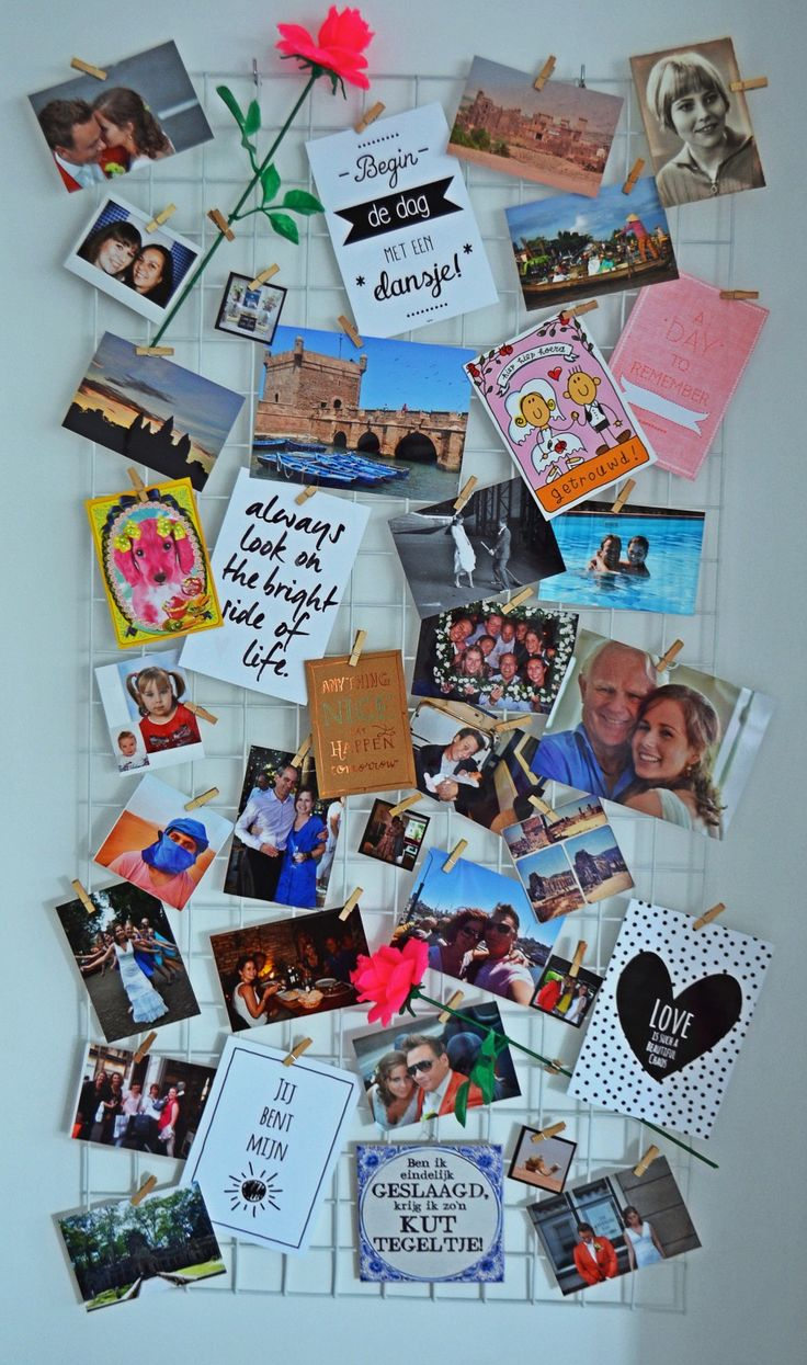 Petite-amie DIY fotopaneel voor aan de muur. #betongaas #gaaspaneel #fotorek