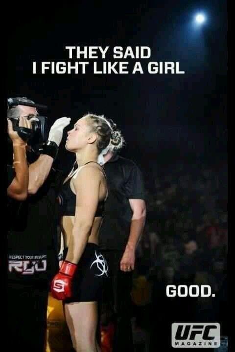 Ronda Rousey ~ yep, she's just freakin' awesome!