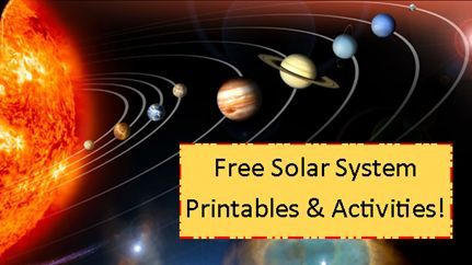 "Solar System Printables & Activities I could have used the ""to scale"" calculator link when we first study the solar system many years back."