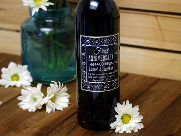 Anniversary Wine Gift Etched Wine Gifts Personalized Wine Bottles