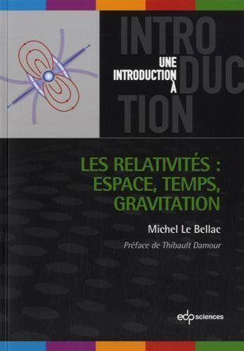 Présentation des éléments de base de la relativité restreinte et de la relativité générale ainsi que leurs principales applications : l'espace-temps, le principe de relativité, le temps relativiste, la masse et l'énergie, les principes de la relativité générale, les vérifications dans le système solaire, les trous noirs, les ondes gravitationnelles, la cosmologie.