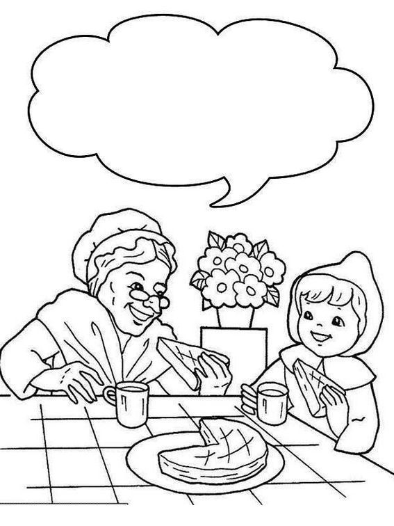 Free Little Red Riding Hood Coloring Pages Free, Download Free ... | 756x567