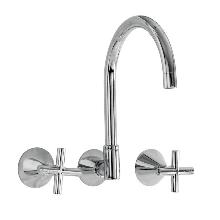 Kirra Plus Wall Sink Set #Linkware #Tapware #Bathroom #Renovate #KirraPlus #Home #WallSink
