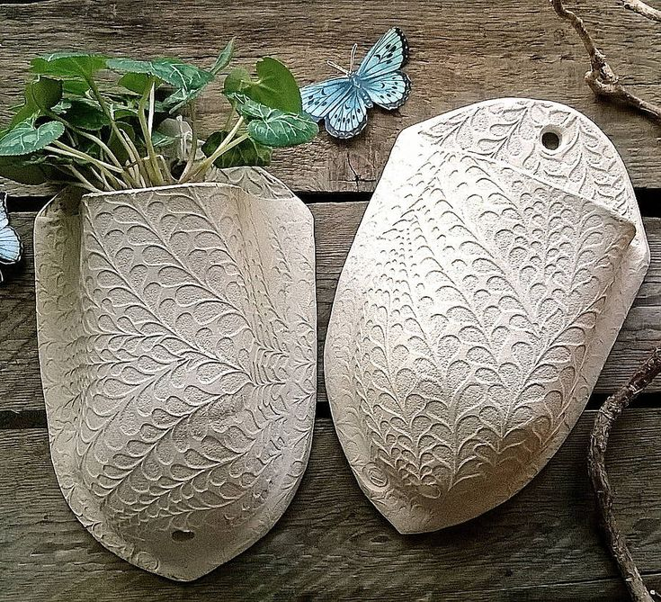 leaf stem stoneware plant pocket by little brick house ceramics | notonthehighstreet.com