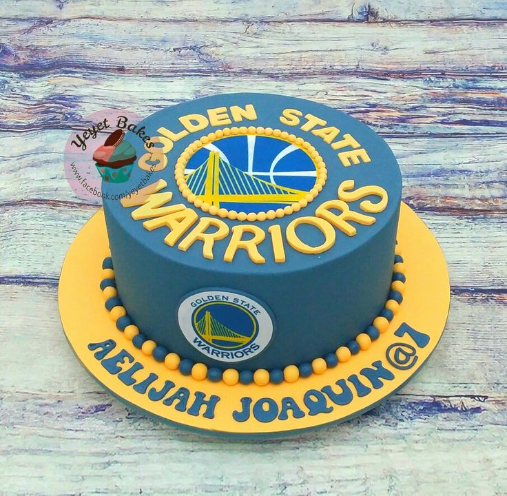 Golden State Warriors Cake for a Stephen Curry fan