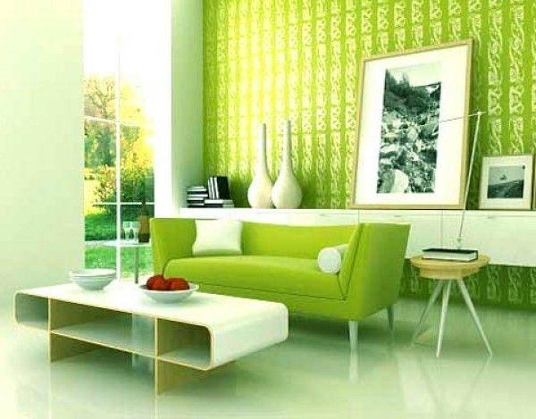 Con una sala color verde...