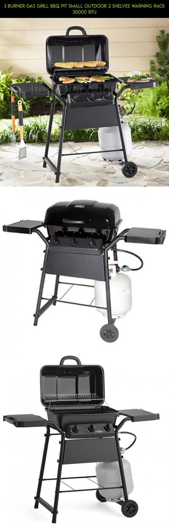 3 Burner Gas Grill BBQ Pit Small Outdoor 2 Shelves Warning Rack 30000 BTU #camera #grills #fpv #racing #gadgets #parts #products #plans #technology #shopping #kit #drone #tech #racks