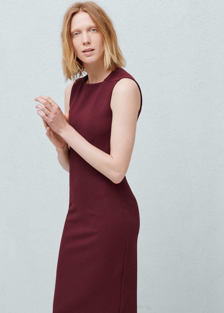 Φόρεμα ανάγλυφες ρίγες -  Γυναίκα | OUTLET Ελλάδα