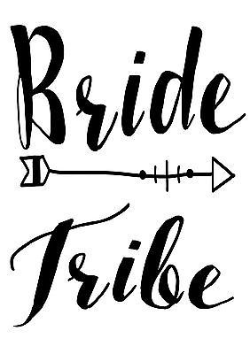 Personalised bride #tribe hen #party iron on t shirt heat #transfer diy ,  View more on the LINK: http://www.zeppy.io/product/gb/2/231903436112/