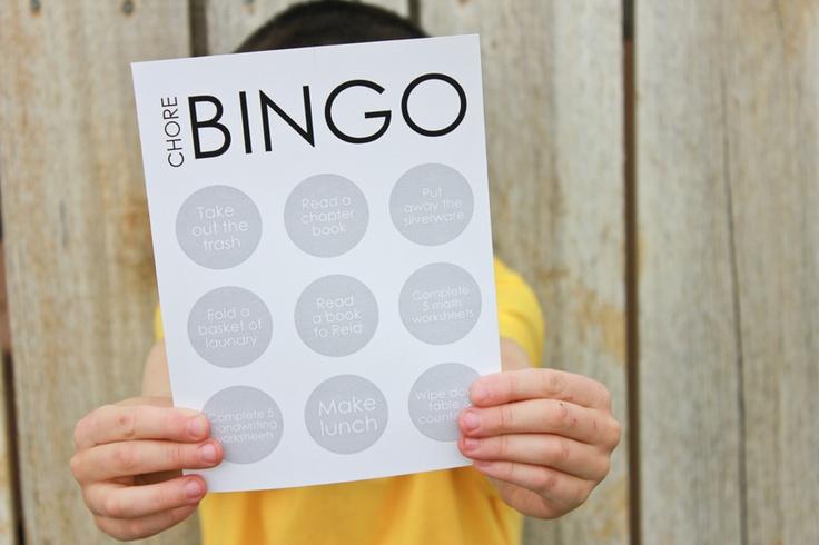 Chore BINGO: B I N G O' Summer, Summer Bingo, Bingo Boards, Summer Job Charts, Chore Bingo, Summer Charts, Delias Create, Bingo Summer, Activities Ideas