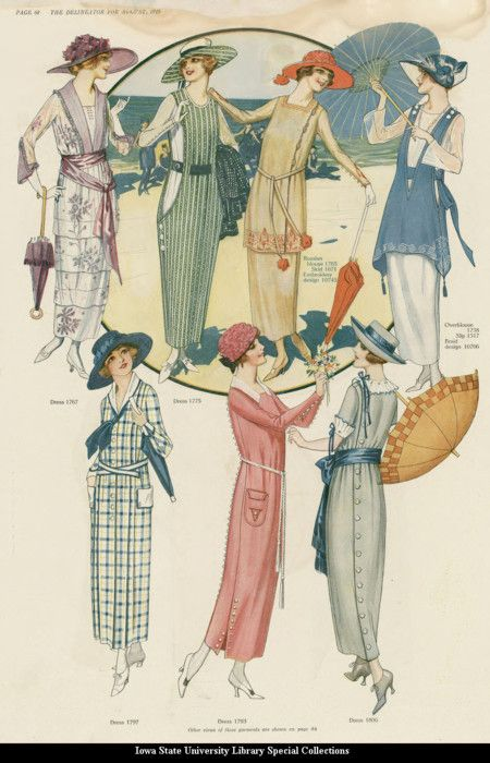 Day dresses, 1919, The Delineator