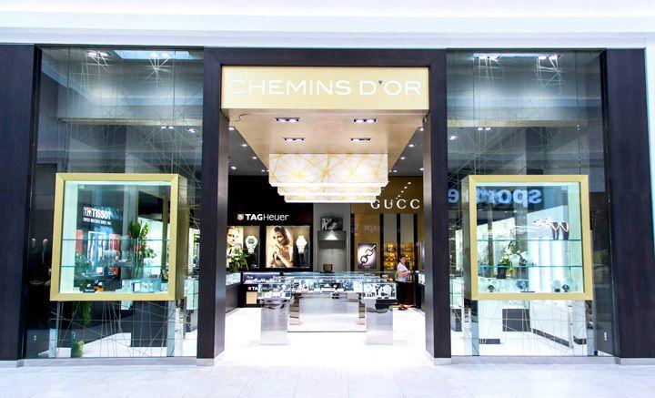 Роскошный дизайн ювелирного магазина Chemins d'Or в Монреале