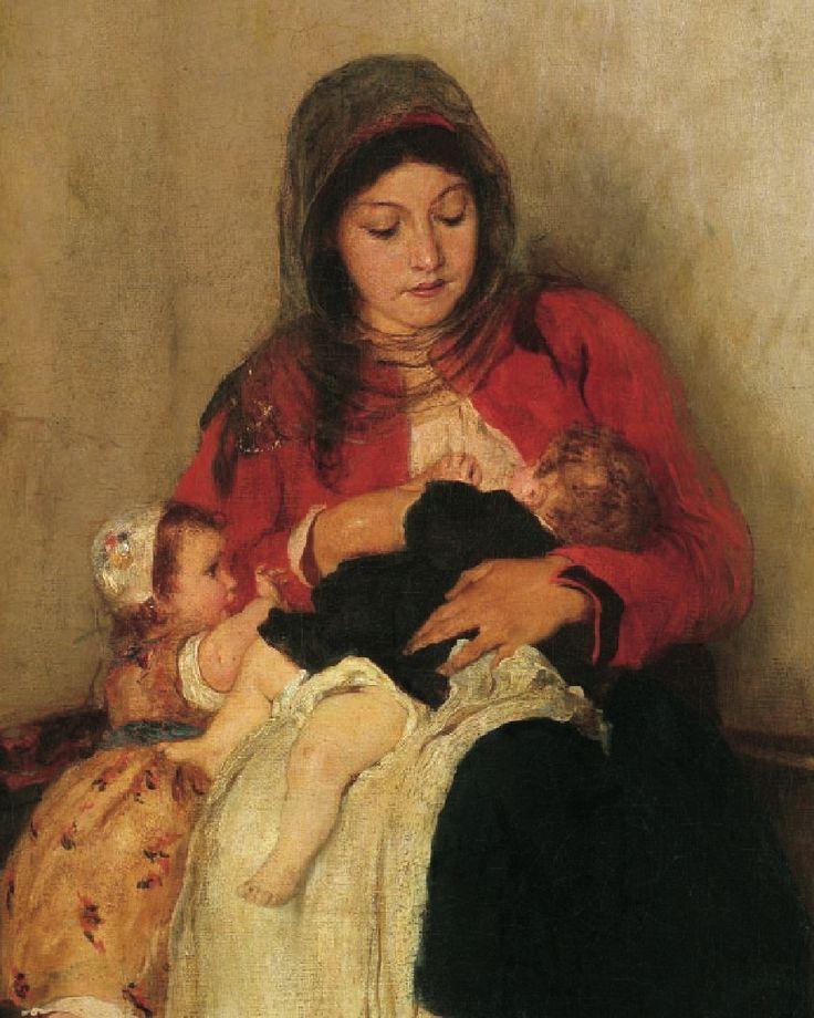 Χρόνια πολλά πολλά μανούλες!  [Ν. Γύζης, Ο θηλασμός] #MothersDay