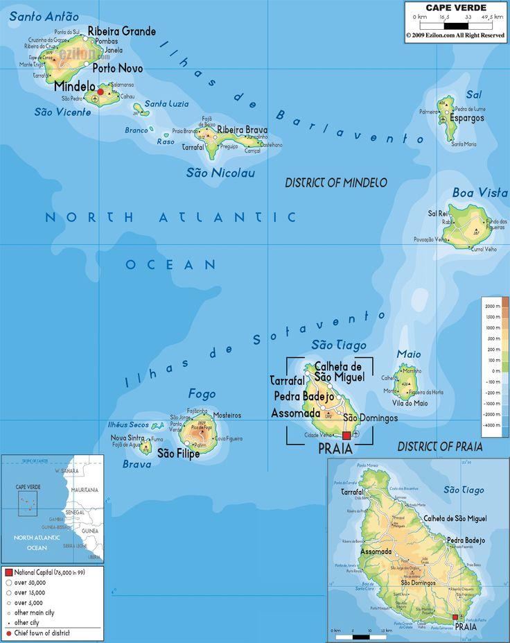 Cape-Verde Map