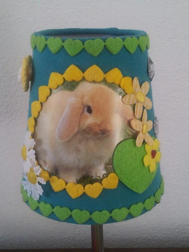 Zelf maken: lampje voor de  kinderkamer van liefste huisdier: het konijn!
