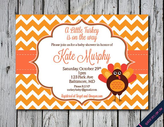 Little Turkey Printable Baby Shower Invitation by BirdieSaysCawCaw, $12.00