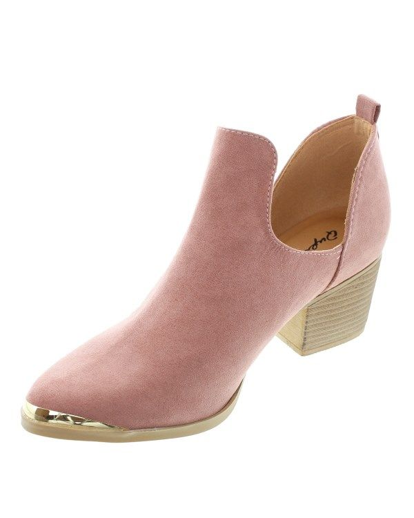 Deep Cut-Out Ankle Boots!