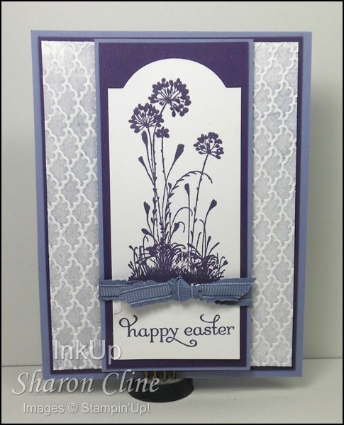 Easter Greeting  #Serene Silhouettes #Fancy Fan #Bisque Painting #Window Frames Framelits