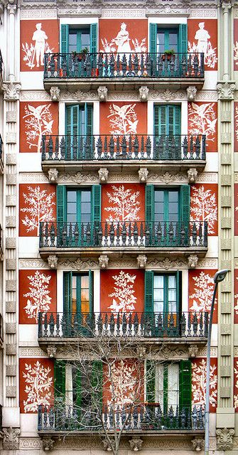 Barcelona :: Spain. ::  [Barcelona - Entença 002 c. Arch: Carles Bosch i Negre. Barcelona ∞ Modernisme.]