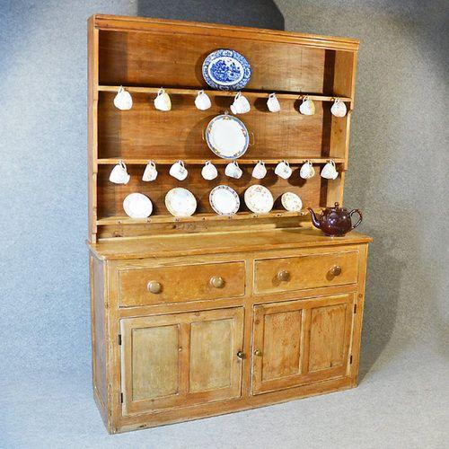 Country Kitchen Dresser: Antique Pine Dresser Welsh Country Kitchen Display Rack
