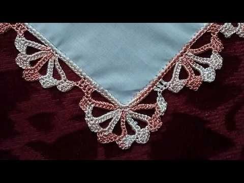 Салфетки, платочки. Обвязка края крючком. №7 - YouTube