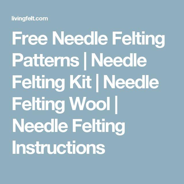 Free Needle Felting Patterns | Needle Felting Kit | Needle Felting Wool | Needle…
